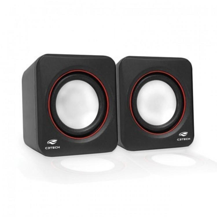 Caixa de Som 2.0 C3tech Sp-301bk 3w Rms