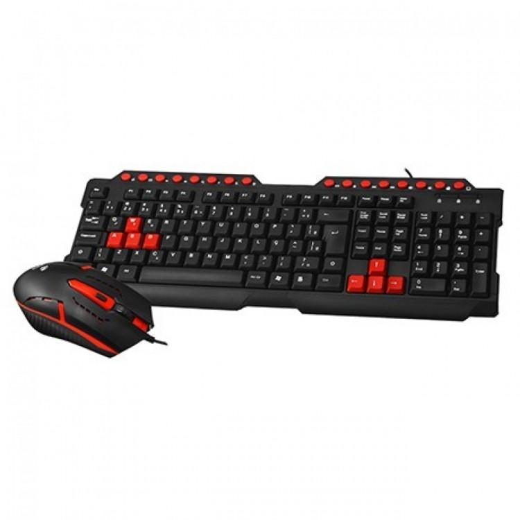 Teclado e Mouse C3tech com Fio Gamer Gk-20bk
