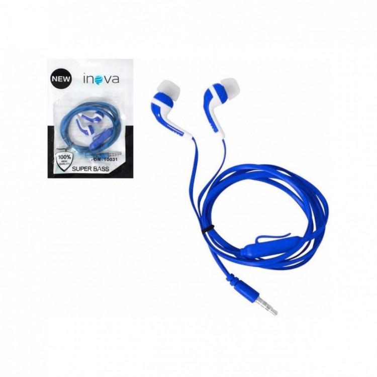 Fone de Ouvido com Microfone Inova Intra Fon-10031 Azul