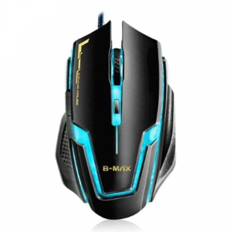 Mouse Usb B-max Gamer A9 Preto e Azul